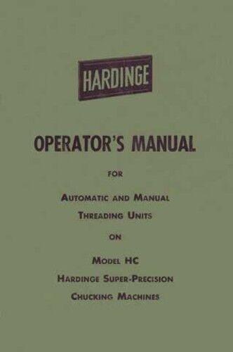 Hardinge Automatic & Manual Threading Units: Model HC