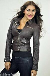 Womens Brown Leather Jacket | eBay