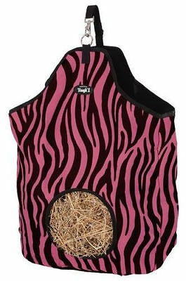 Pink Zebra Print Heavy Denier Nylon Feed Horse Hay Bag  Stall new Trailer