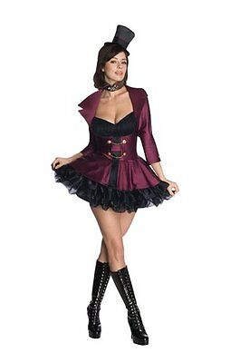 Womens Sexy Willy Wonka Halloween Costume Size X-Small NEW Chocolate Factory - Willy Wonka Womens Halloween Costume