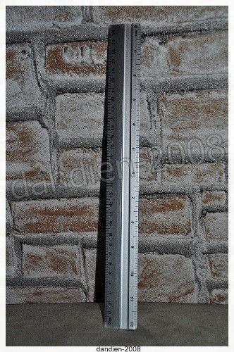 Aluminium Lineal 30 cm Aluminiumlineal Metall Alu Schneidkante Messen rutschfest