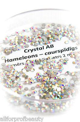 Swarovski Flat Back Gems CRYSTAL AB 6 Sizes Eyelash Nail Body Design EU Seller