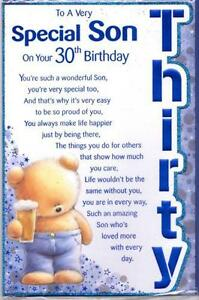 Son birthday cards ebay sons 30th birthday cards m4hsunfo