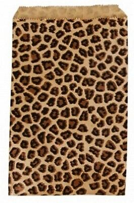 500 Leopard Print Merchandise Retail Paper Party Favor Gift Bags 5 X 7 Tall