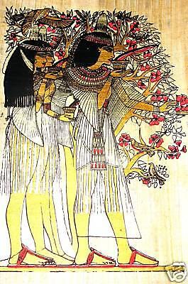 Ägypten  Papyrus-Bild 30 x 40  Beim Lustwandeln