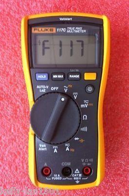 1pcs Fluke 117c Havc Voltalert Backlight Multimeter Brand New