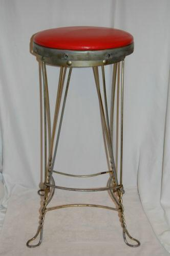 Vintage Ice Cream Parlor Stool Ebay