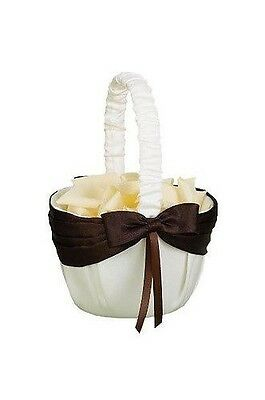 6 Hortense B. Hewitt Ivory With Mocha Brown Bow Flower Gi...
