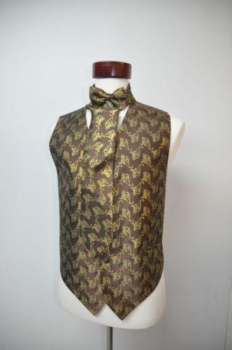 Gold Tuxedo Vest Ebay