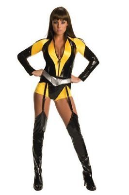 Superhero Costume For Women (Sexy Superhero Women's DC Silk Sceptre Costume The Watchman - Full Zipper)