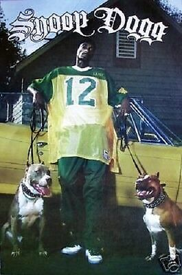 RARE 2005 RAP ARTIST SNOOP DOGG WITH PITBULLS 22x34 NEW POSTER FREE SHIPPING