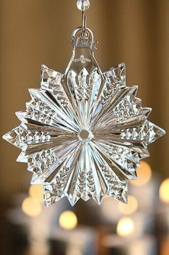 "Waterford Crystal Ornament ""2012 Annual Snow Crystal"" w/Enhancer*NEW SEALED BOX"