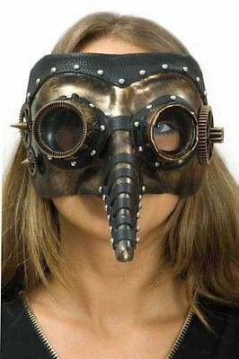 Pestmaske Dr. Steam Steampunkmaske Pest Arztmaske Halloween