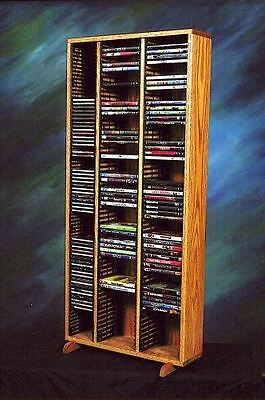Solid Oak Tower for CD's and DVD's Model (Solid Oak Cd Dvd)