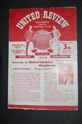Manchester United Signed Programme