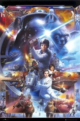 Star Wars   30Th Anniversary Cast 24X36 Movie Poster Tsuneo Sanda Episode