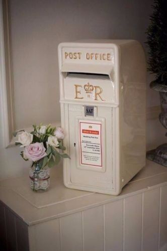 Vintage Royal Mail White Wedding Post Box For Hire Reception