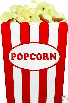 Popcorn Restaurant Concession Fair Food Truck Vinyl Sticker Decal 12