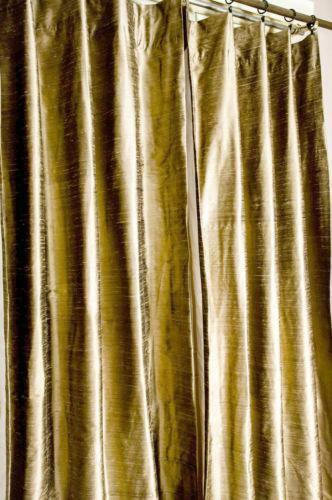 Raw Silk Curtains Ebay