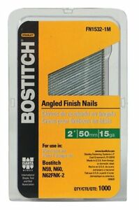 BOSTITCH FN1532-1M 2-Inch 15-Gauge FN Style Angled Finish Nails,