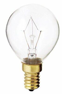 Satco S4707 130V E14 Euro Base 40-Watt G14 Light Bulb, - E14 Euro Base