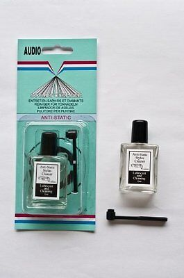 Phono Cartridge Stylus Cleaner Preservative Micro Fiber Brush Cleaning Lubricant