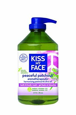 Kiss My Face Peaceful Patchouli Moisturizing Shower Gel Bath and Body Wash 32 (32 Ounce Moisturizing Bath)