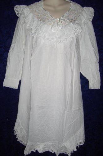 Victorian Cotton Nightgown Ebay