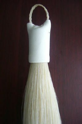 New natural white Horse Show Tail Hair Extension 70-76cm 170grams