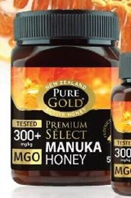 Pure Gold New Zealand Active Manuka Honey 300 + 500g BBE 02/2024