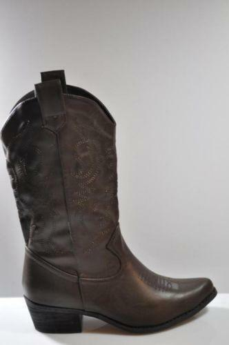 womens brown cowboy boots size 8 ebay