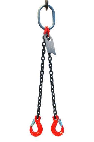 "1/2"" Grade 80 DOS Double Leg Chain Sling Hooks CHOOSE YOUR LENGTH"