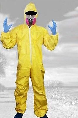 Breaking Bad Walter White Outfit Hazmat Suit Halloween Cosplay Costume Suit Mask](Yellow Hazmat Suit Halloween)