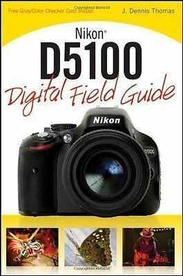 Nikon D5100 Digital Camera Field Guide Book Owners Operators Manual -  NEW  for sale  Shipping to India