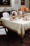 White Round Damask Tablecloth