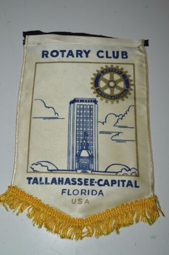 Vintage TALLAHASSEE-Capital Florida Rotary Club International Flag Wall Banner
