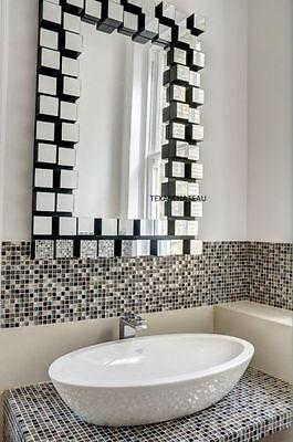New Xl 42  Modern  Z Gallerie Style Cubic Venetian Wall Vanity Mirror Chic