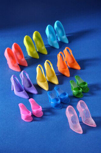 Dressmaker Details Open-Toe Shoes Mules for 12-inch Dolls -Choose from 10 Colors