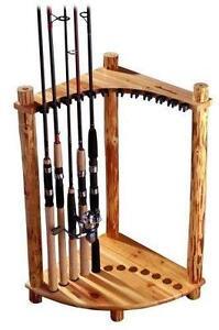 Wood Fishing Rod Rack