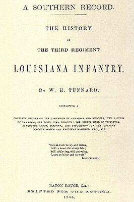 Civil War History of the 3rd Louisiana Infantry LA CSA