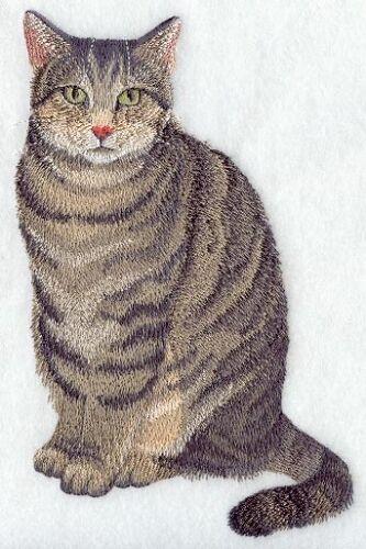 Embroidered Ladies Fleece Jacket - Tabby Cat C7941 Sizes S - XXL
