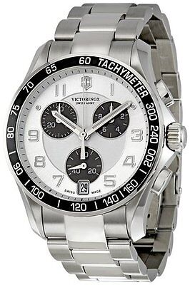 Victorinox Swiss Army Men's Chronograph Silver Dial Watch 241495 new warranty