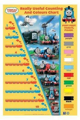 Thomas the Tank Engine and Friends - Counting Chart- Kids Poster - c15