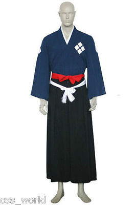 Samurai Champloo Jin Cosplay Costume Halloween Kimono Clothing S-XXL
