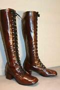 Vintage Tall Lace Up Boots