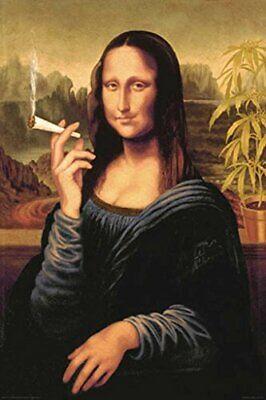 Mona Lisa Smoking Poster Poster Print, 24x36
