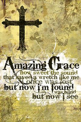 AMAZING GRACE Christian Hymn Song Lyrics Inspirational Motivational POSTER](Awesome Motivational Poster)