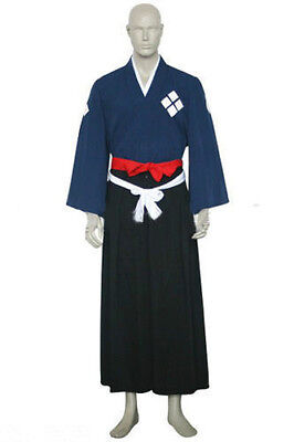 Samurai Champloo Jin Cosplay Costume Halloween Kimono Clothing S-XXL: