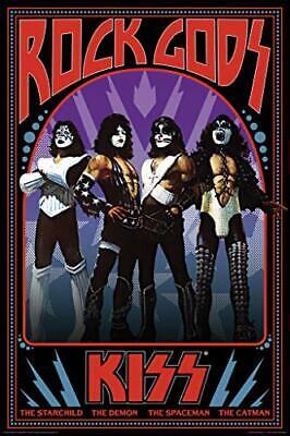 Kiss Rock Gods Retro Music Poster 24x36 Inch Rock Music Poster