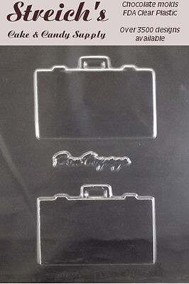 3-D Suitcase Briefcase Chocolate Candy Mold